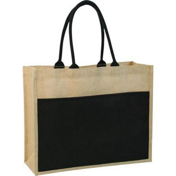 Picture of Contrast Eco Jute Bag