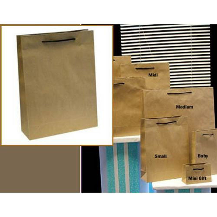 Picture of Deluxe Brown Kraft - Black Rope Handles - Small