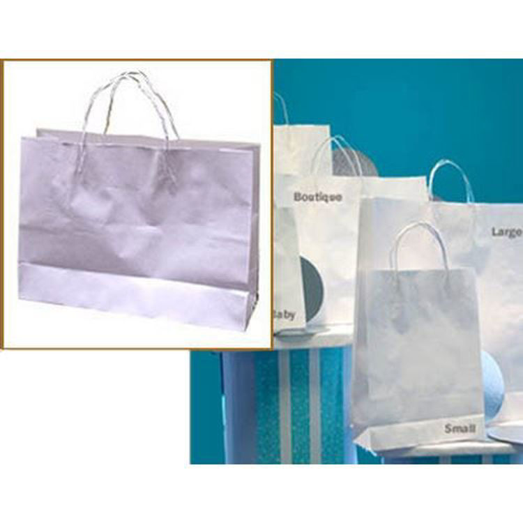 Picture of White Kraft - Paper Loop Handles - Small Btq