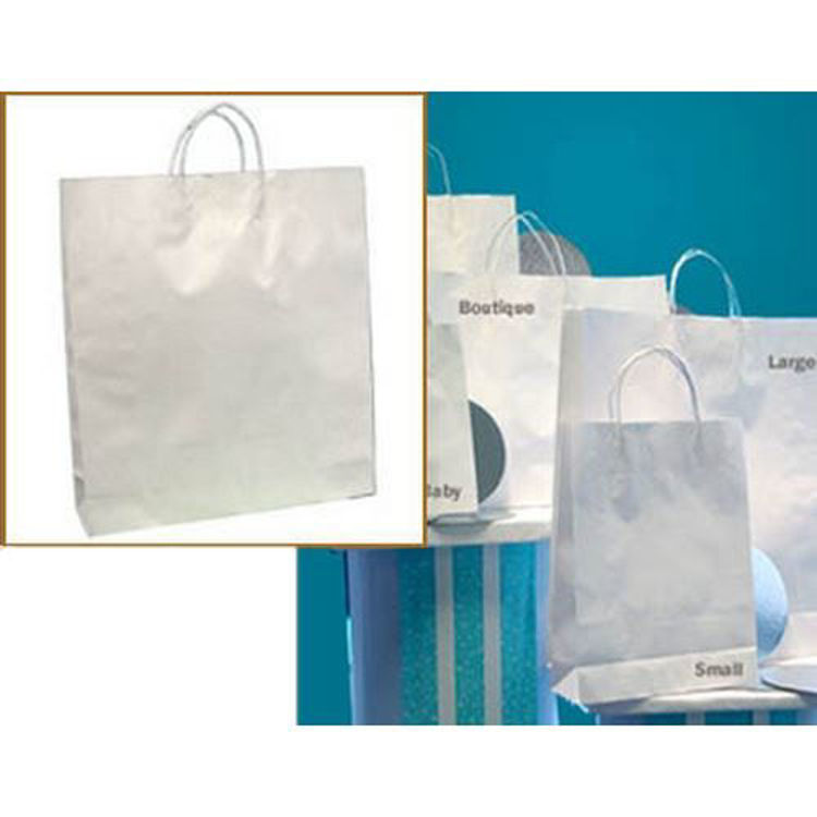 Picture of White Kraft - Paper Loop Handles- Large